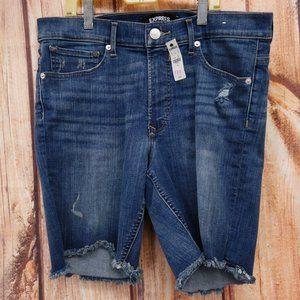 New High Waisted Denim Perfect Bermuda Shorts